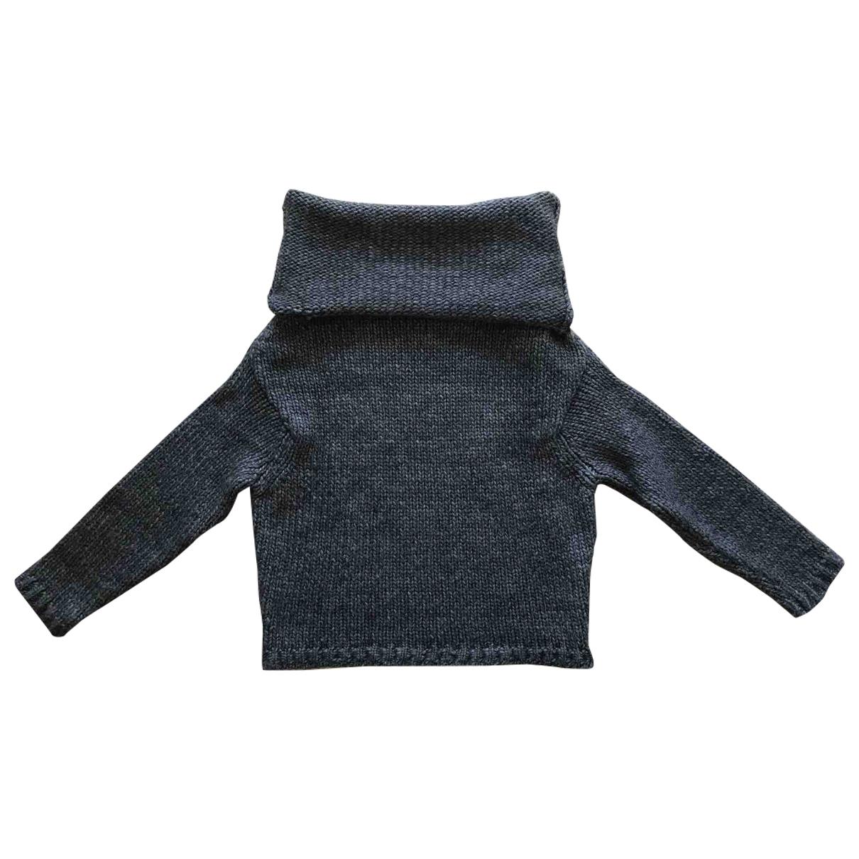 Forte_forte - Pull   pour femme en laine - gris