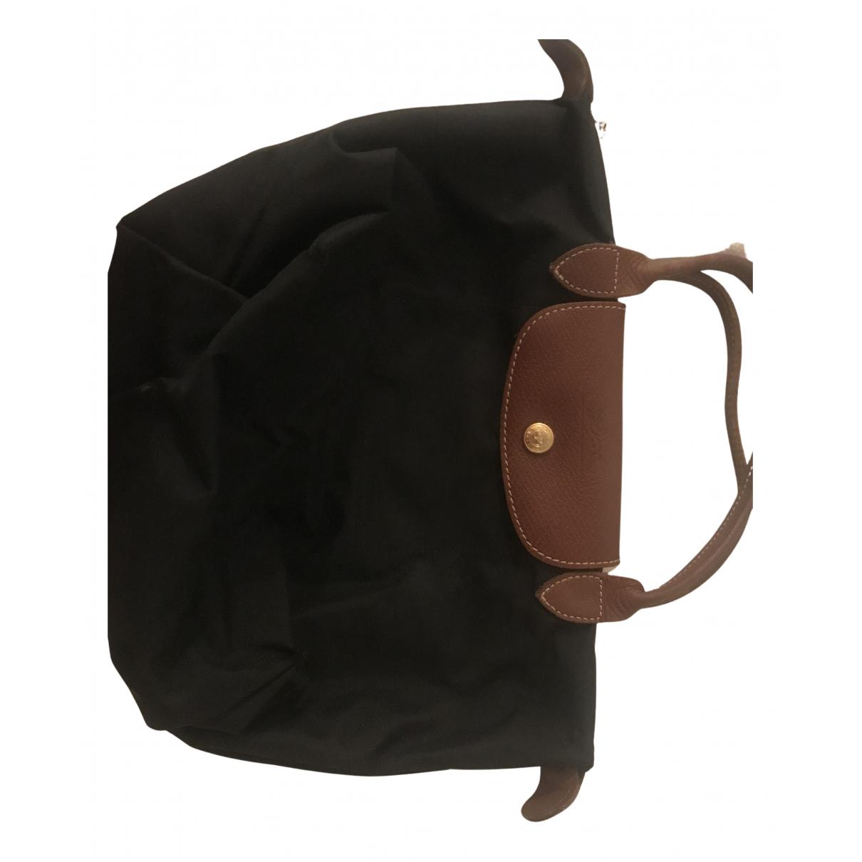 Longchamp Pliage  Black Cloth handbag for Women N