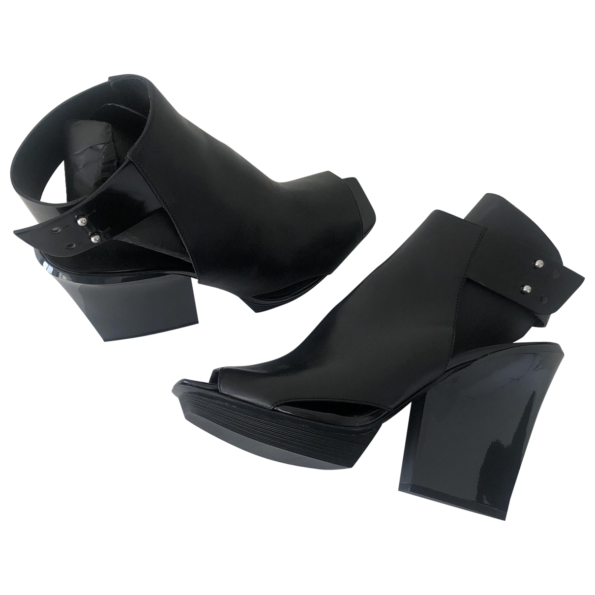 3.1 Phillip Lim \N Black Leather Ankle boots for Women 40 EU