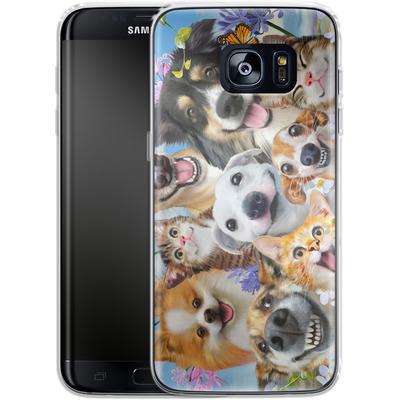 Samsung Galaxy S7 Edge Silikon Handyhuelle - Selfie Fun in the Sun von Howard Robinson