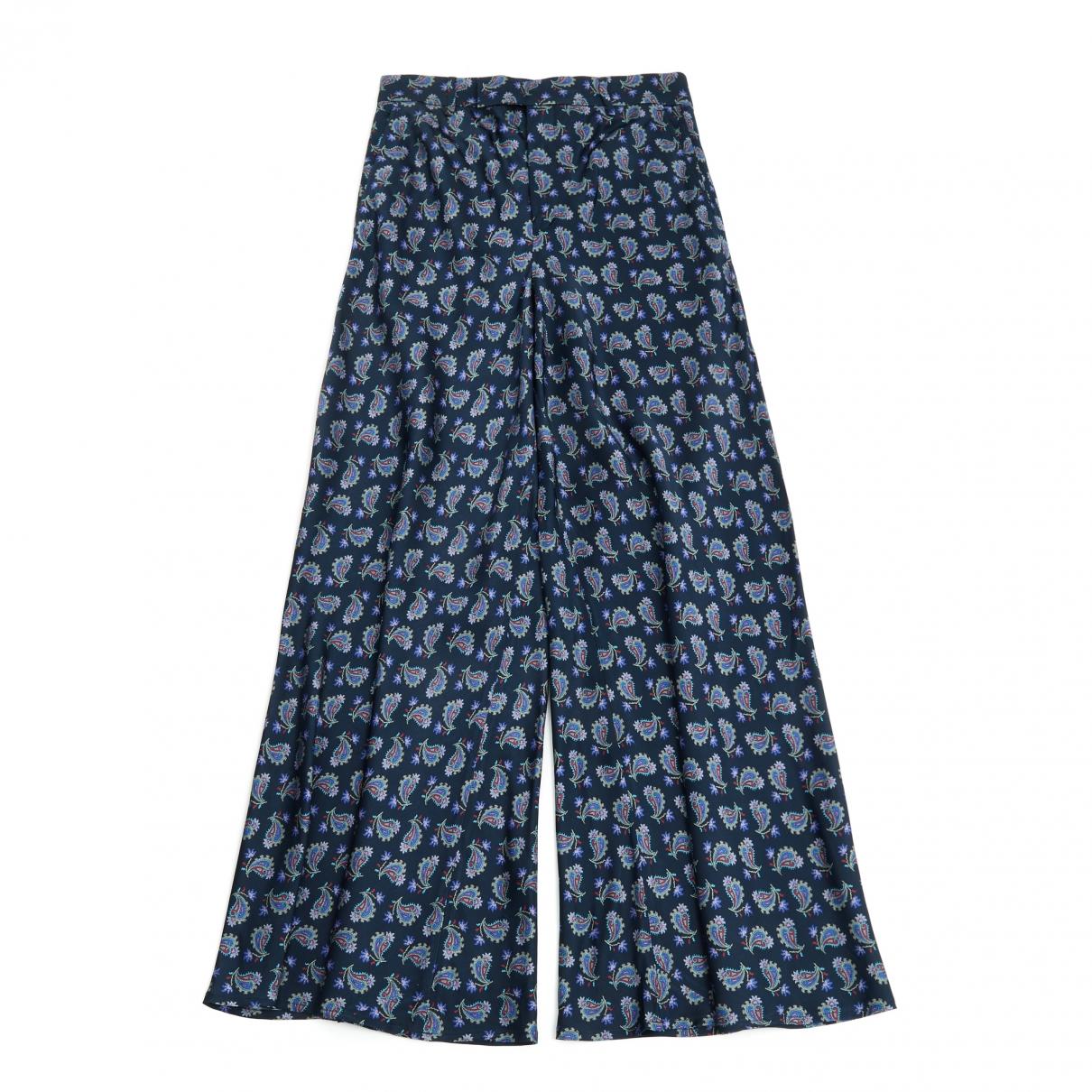 Etro \N Navy Trousers for Women 38 FR