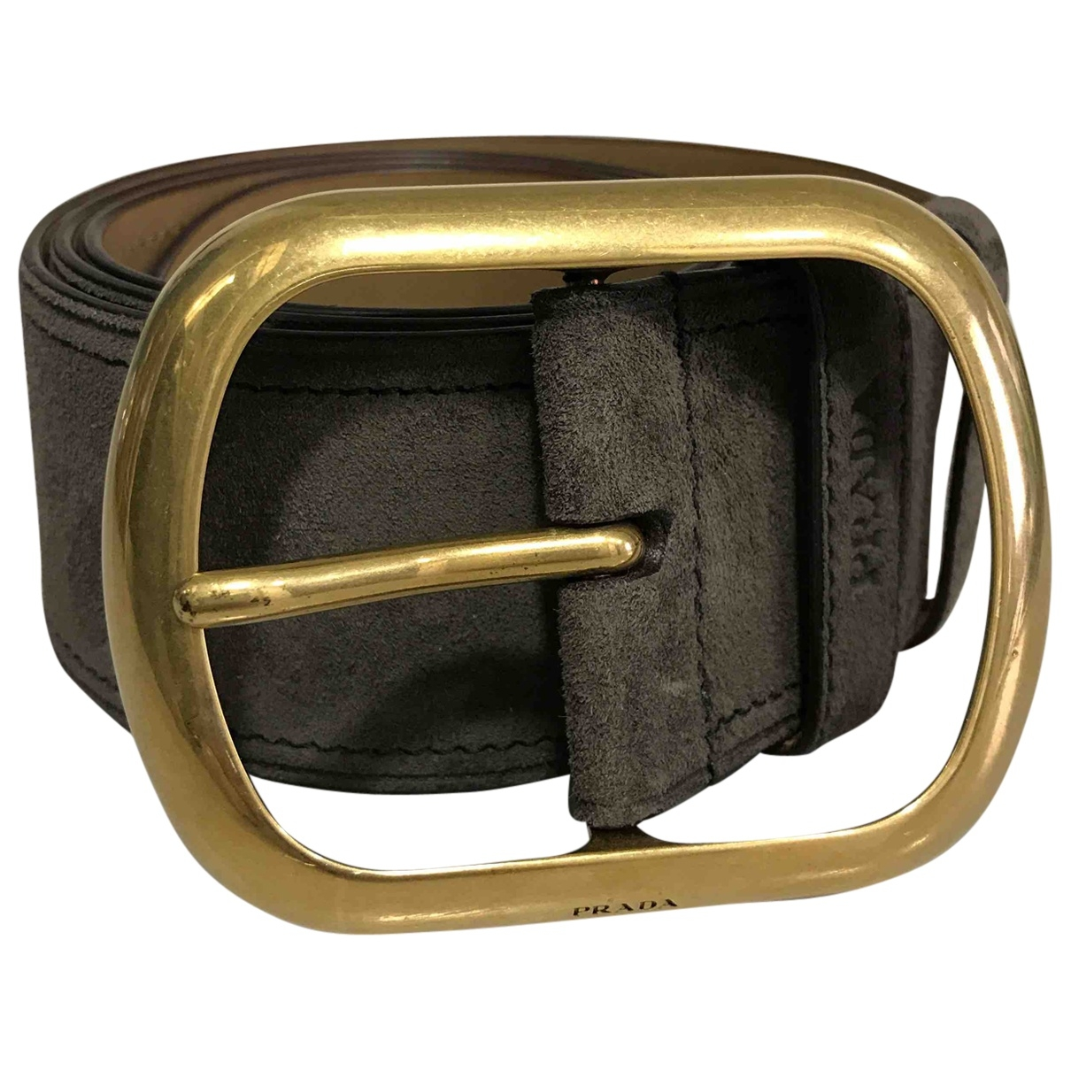 Prada \N Brown Suede belt for Women 80 cm