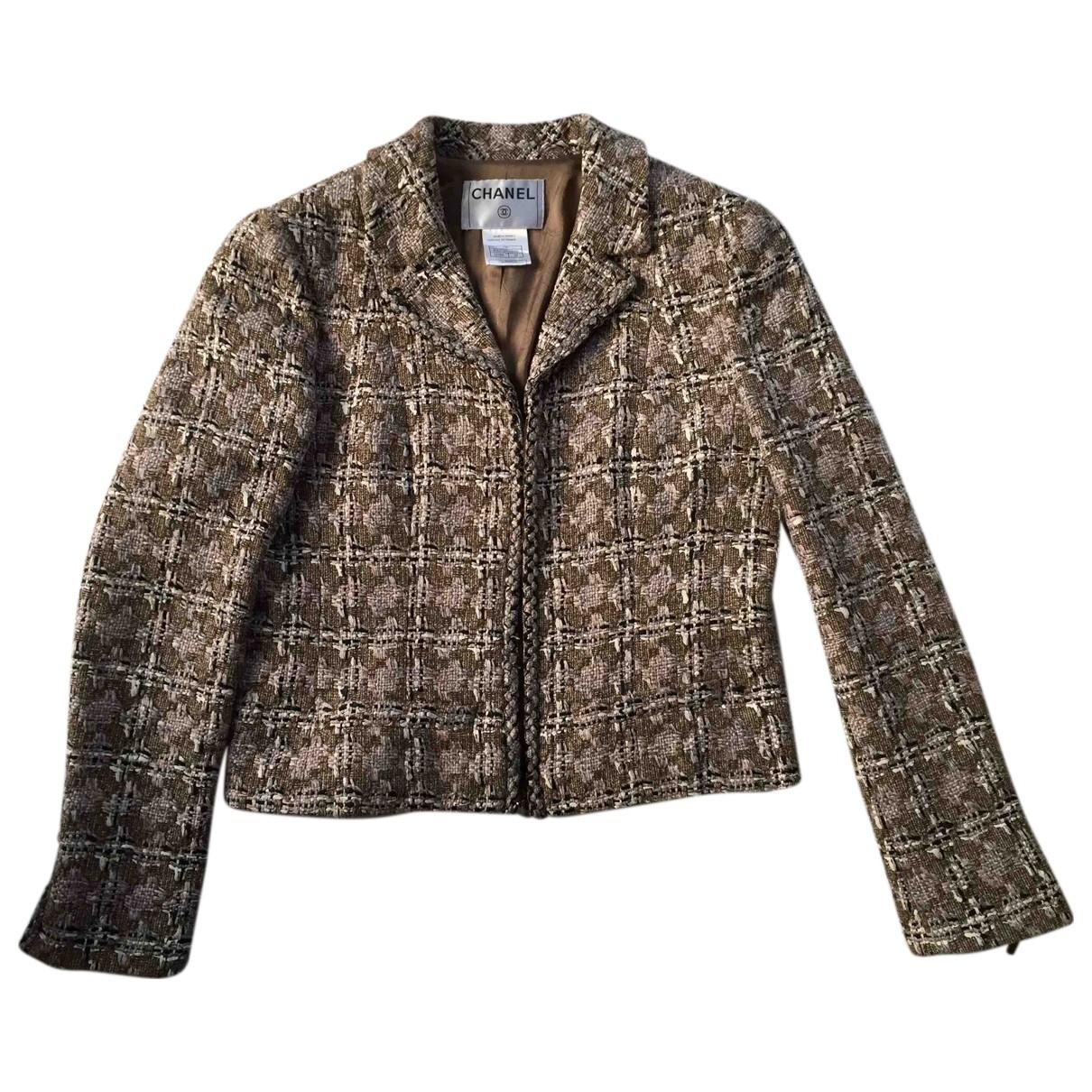 Chanel - Veste   pour femme en coton - marron