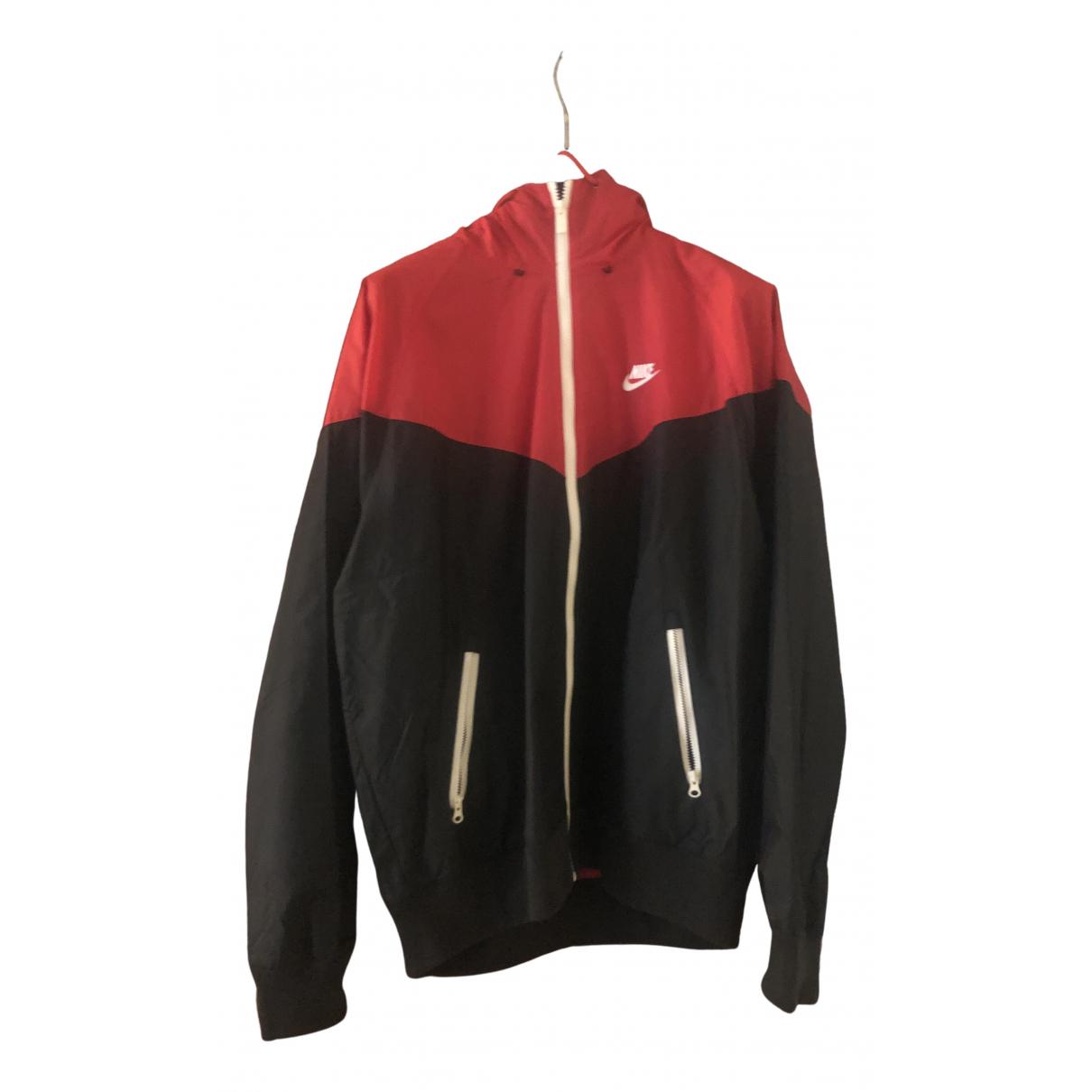 Nike \N Jacke in  Rot Synthetik