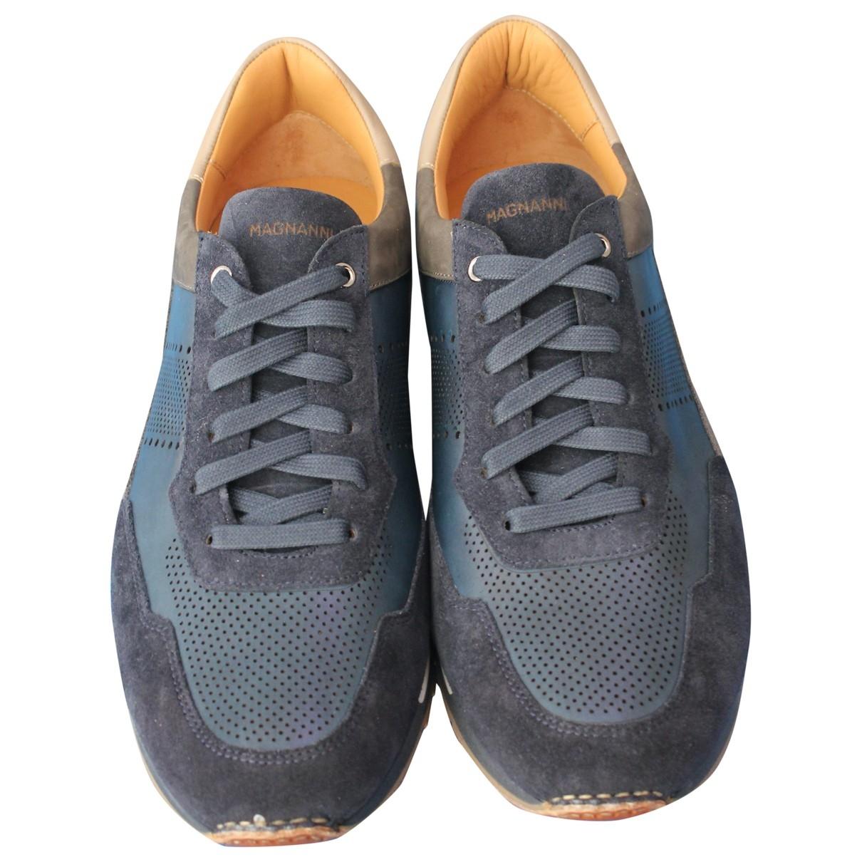 Magnanni - Baskets   pour homme en suede - bleu