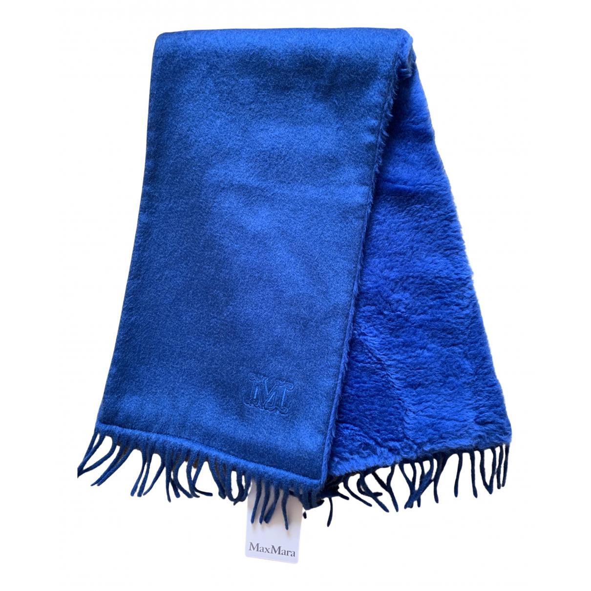 Max Mara - Foulard   pour femme en laine - bleu