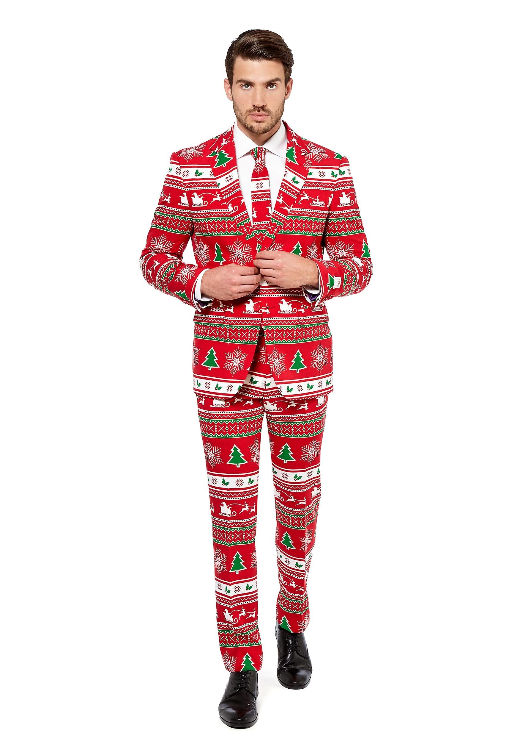 OppoSuits Winter Wonderland Suit for Men