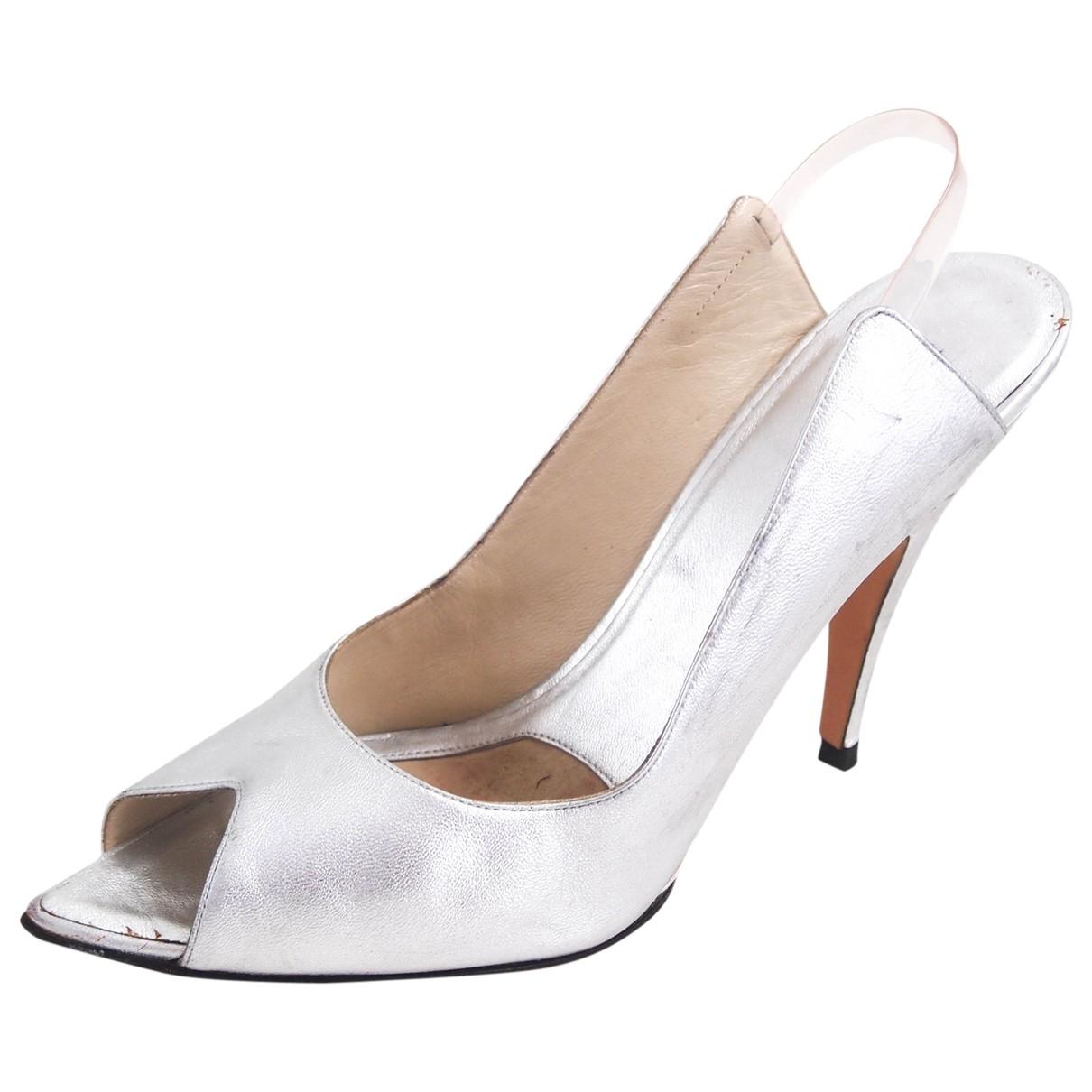 Gucci \N Sandalen in  Silber Leder