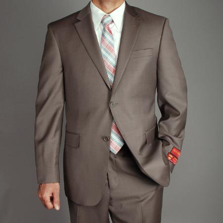 Mens Wool 2button Suit
