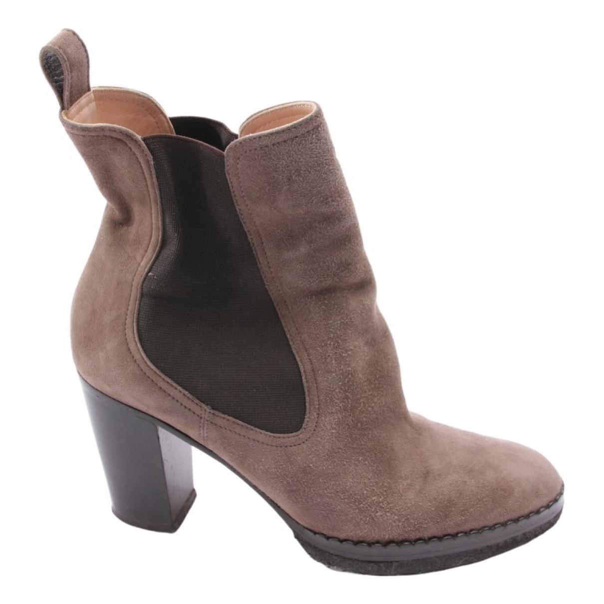 Unutzer - Boots   pour femme en suede - marron