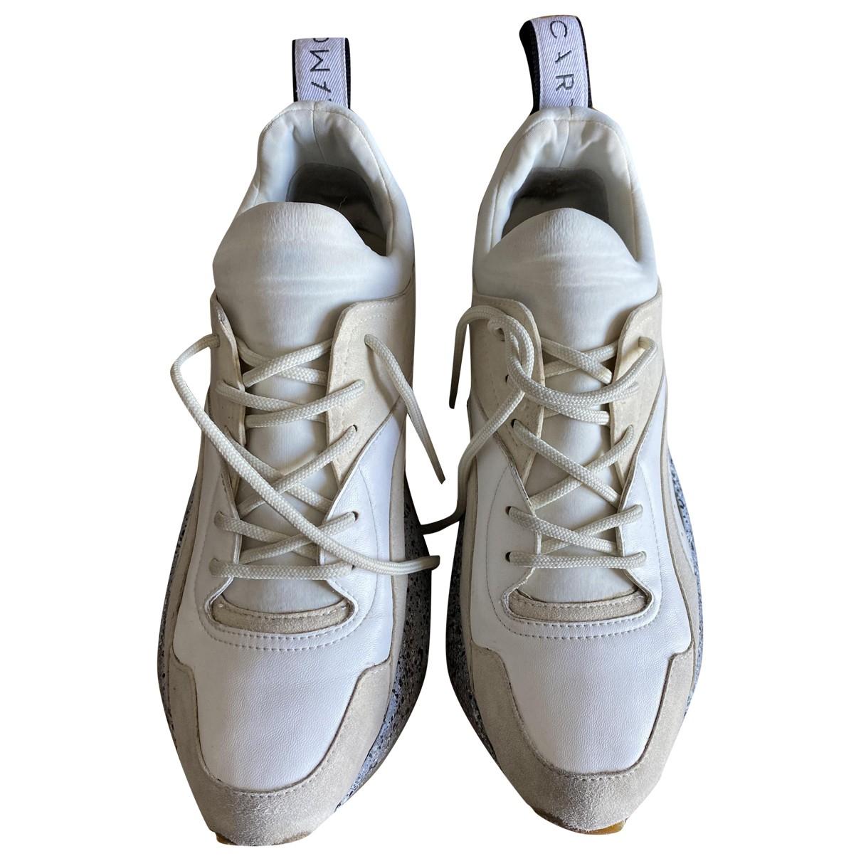 Stella Mccartney Eclypse White Leather Trainers for Women 40 EU