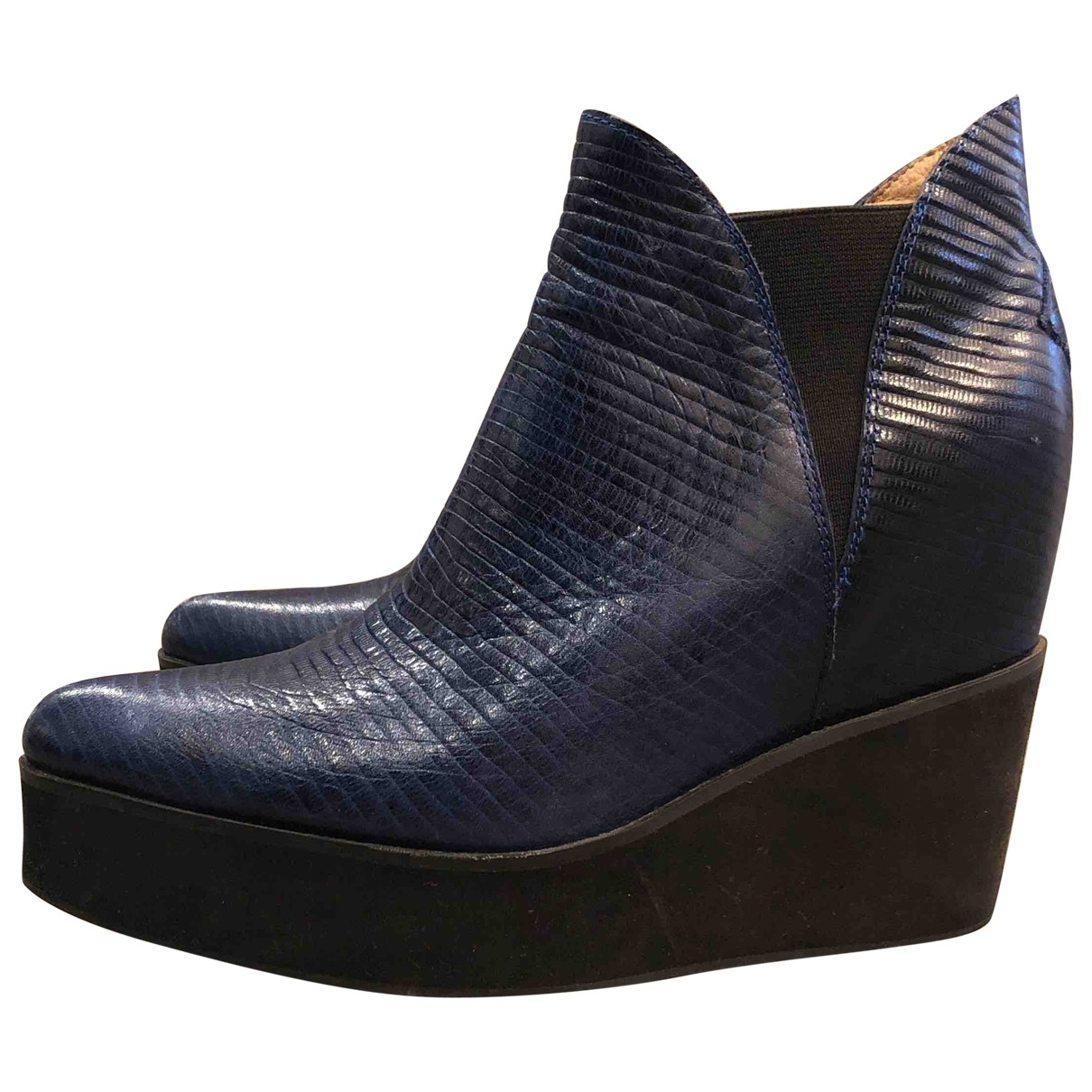 Jeffrey Campbell \N Leather Ankle boots for Women 37.5 EU