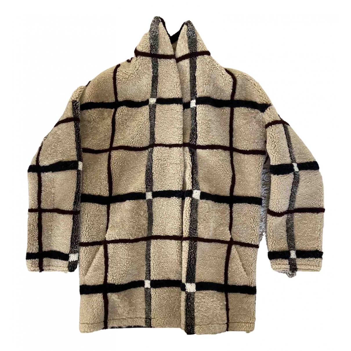 Sprung Frères \N Camel Leather coat for Women M International