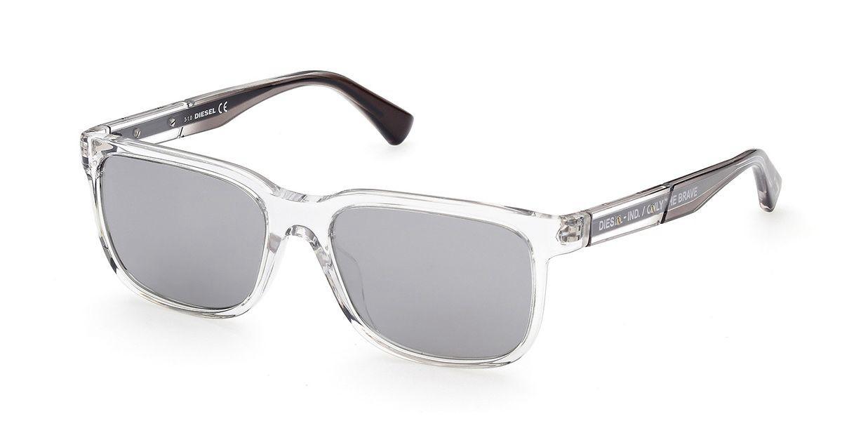 Diesel DL0341 26C Men's Sunglasses Clear Size 54