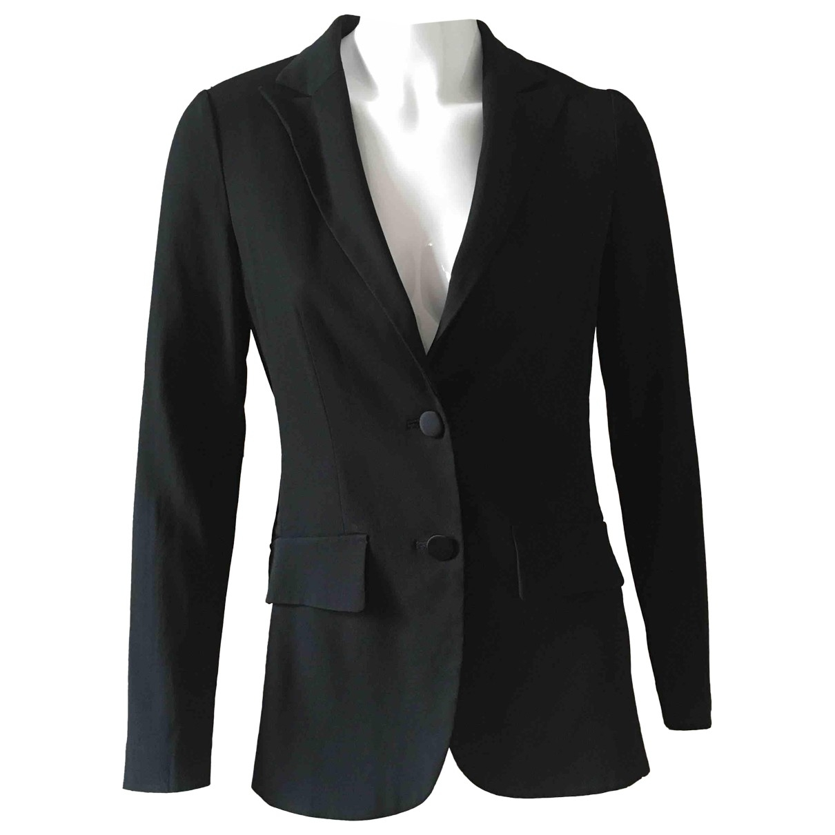 Non Signé / Unsigned \N Black jacket for Women 42 IT