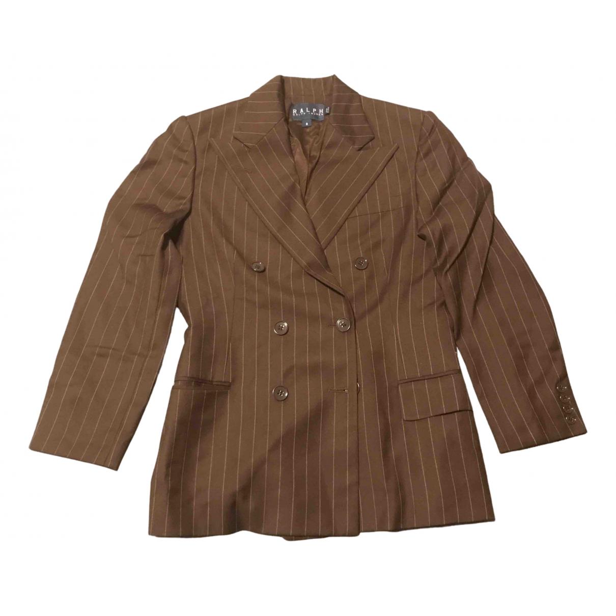 Ralph Lauren \N Jacke in  Braun Wolle
