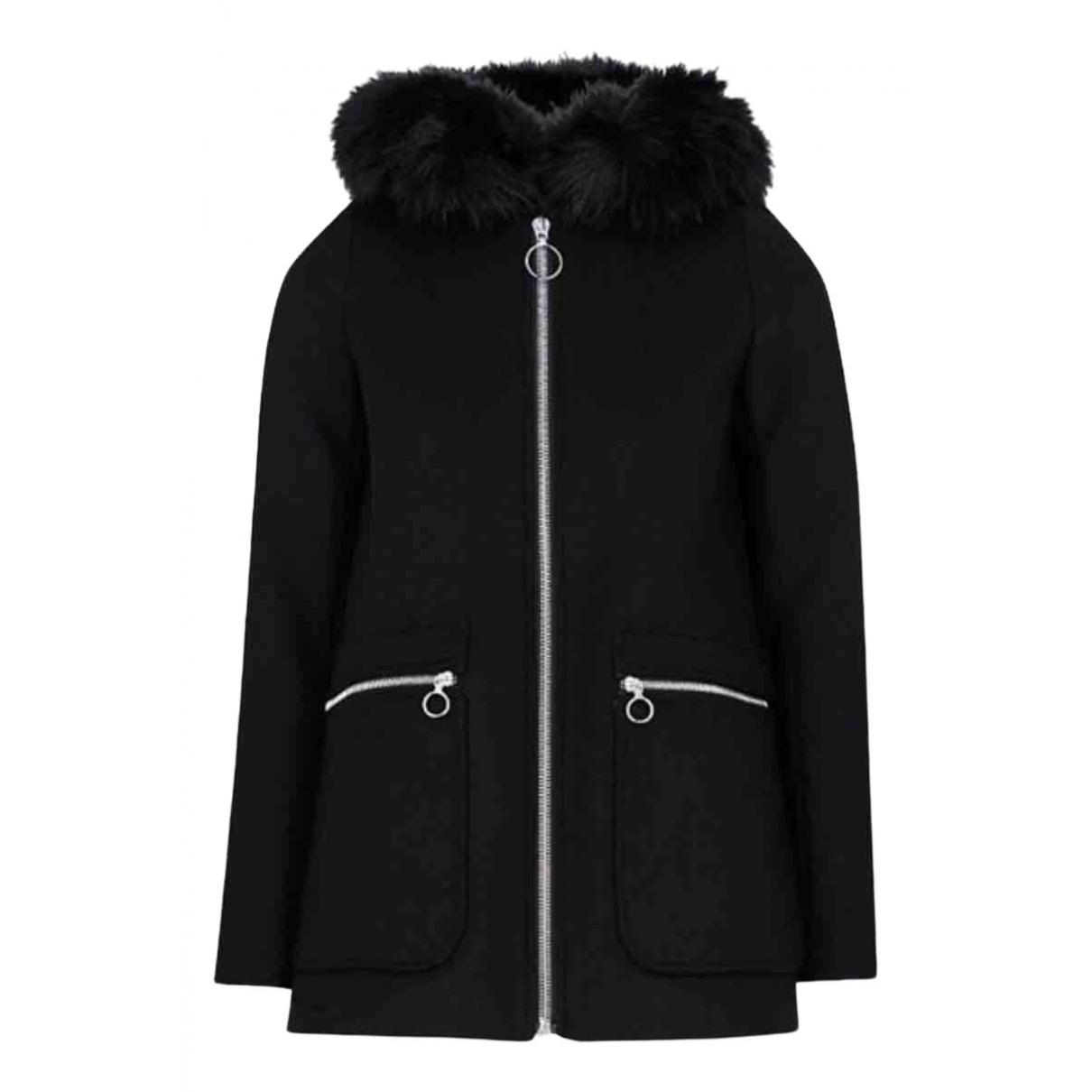 Maje N Black Wool coat for Women 36 FR