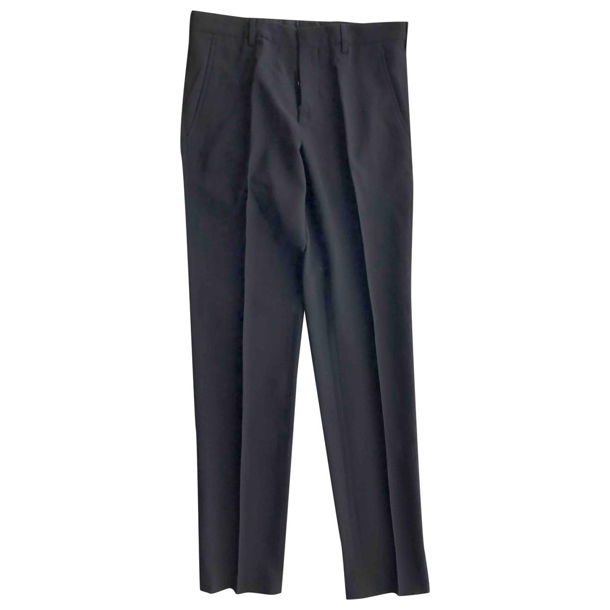 Prada \N Black Wool Trousers for Men 46 IT