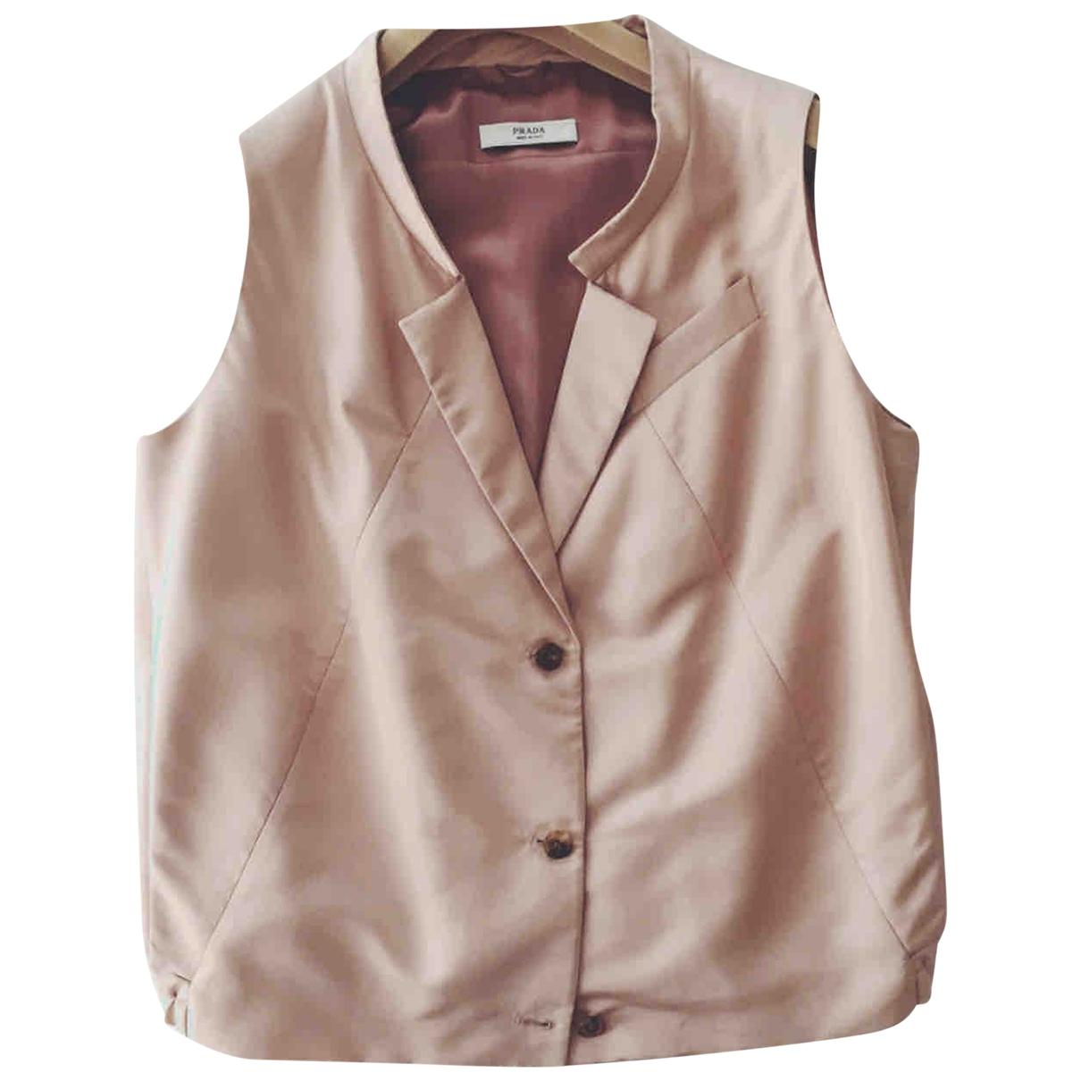 Prada \N Pink Silk Knitwear for Women 44 IT