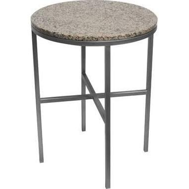 120742 15W x 15L x 22H Crofton End Table in Silver Patina Metal &