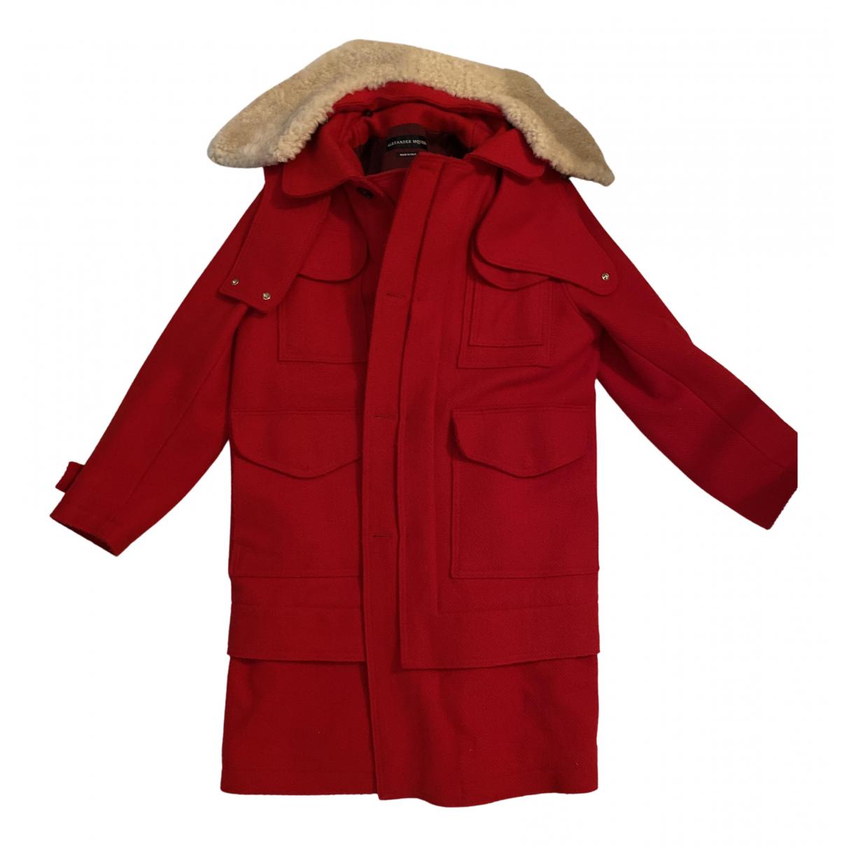 Alexander Mcqueen N Red Wool coat  for Men 50 IT