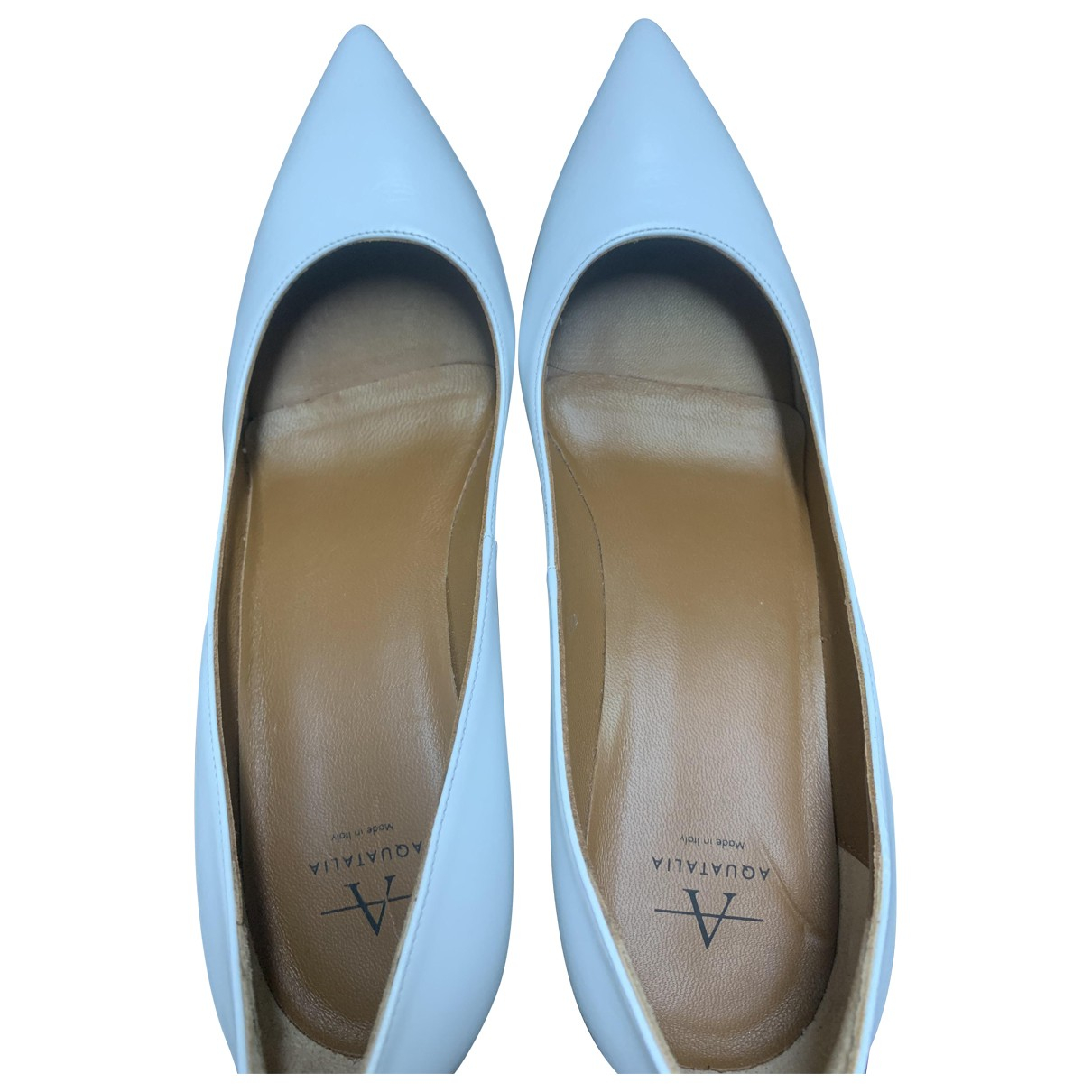Aquatalia - Escarpins   pour femme en cuir - blanc