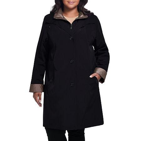 Miss Gallery Midweight Raincoat-Plus, 2x , Black