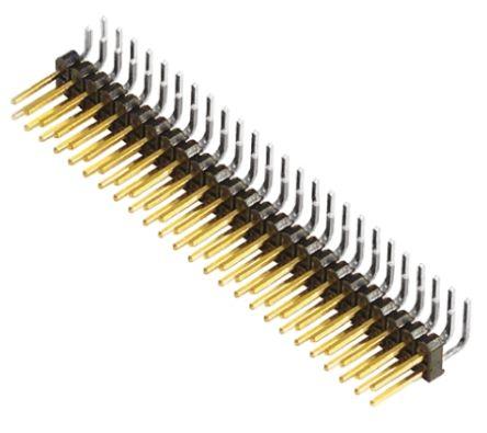 Samtec , TSW, 50 Way, 2 Row, Right Angle Pin Header