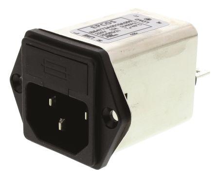 EPCOS , B84773 10A 250 V ac/dc 50 → 60Hz, Panel Mount RFI Filter, Tab, Single Phase