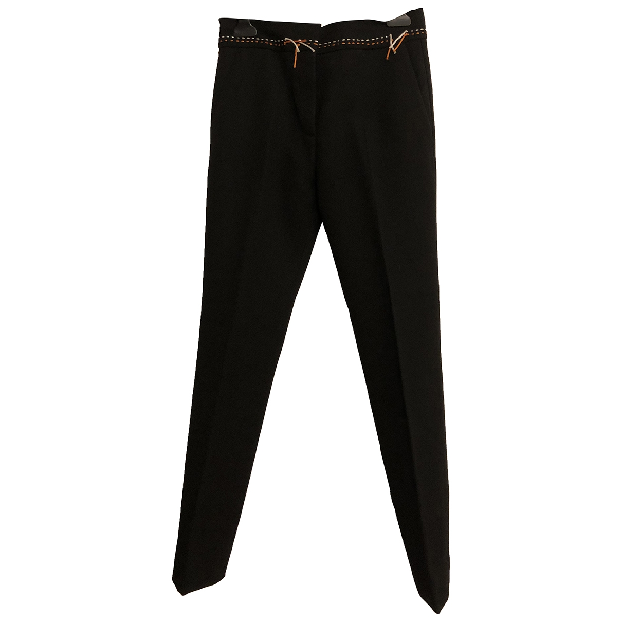 Victoria Beckham \N Black Wool Trousers for Women 36 FR