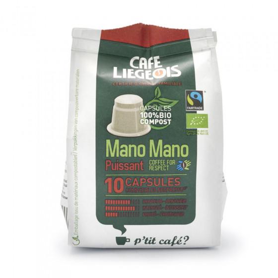 "Kaffeekapseln Cafe Liegeois ""Mano Mano Puissant"", 10 Stk."