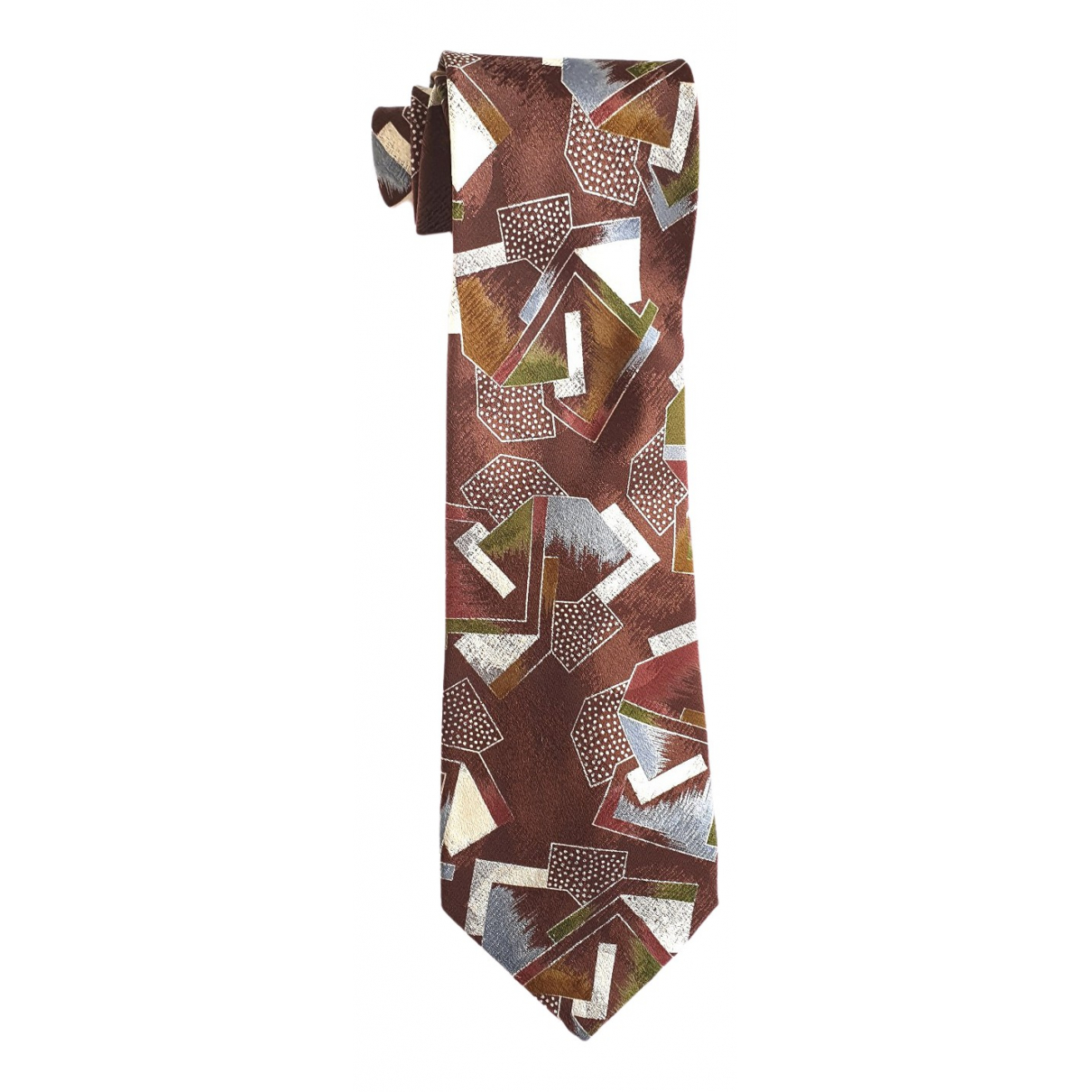 Emporio Armani \N Brown Silk Ties for Men \N