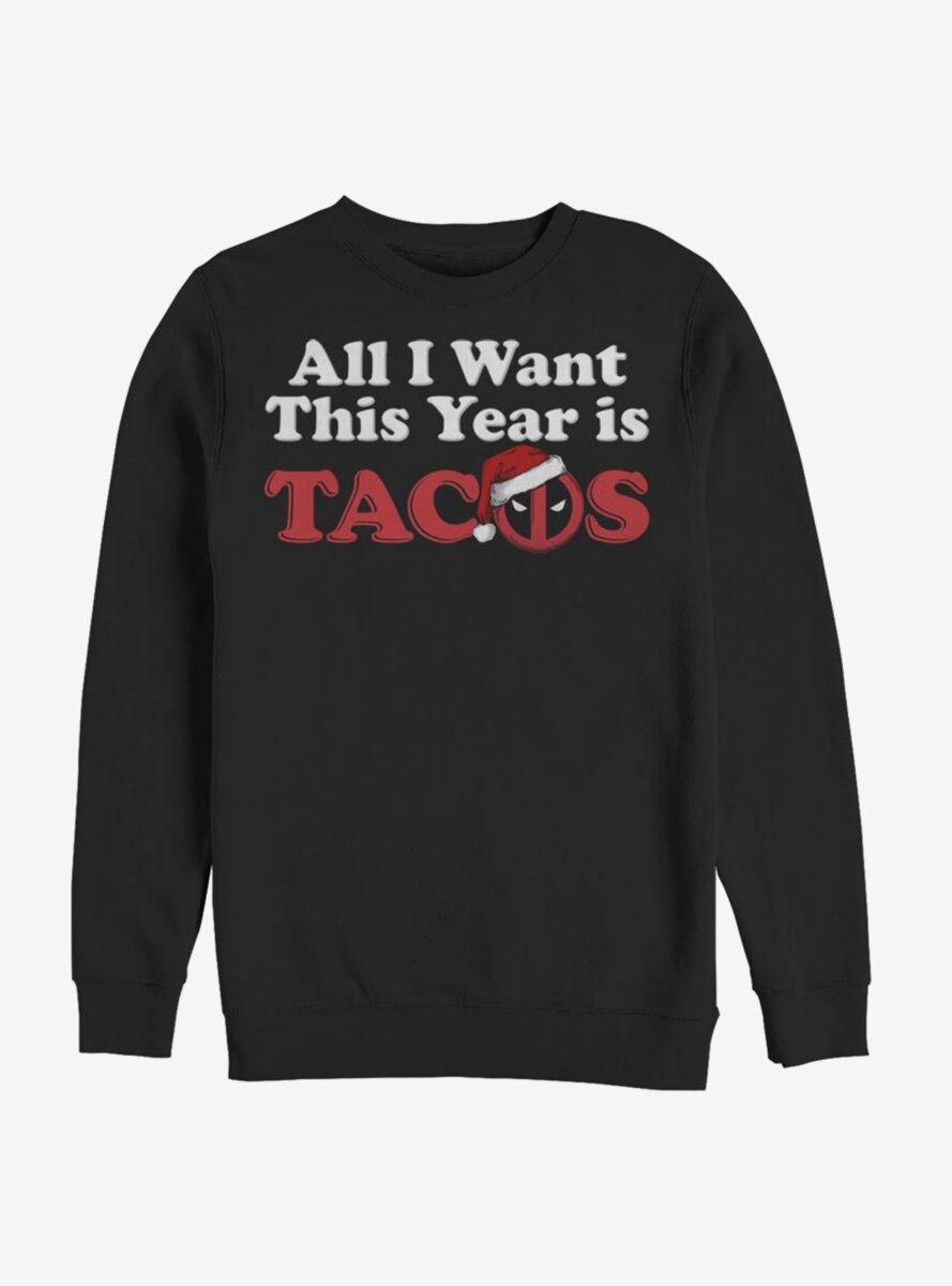 Marvel Deadpool All I Want Tacos Sweatshirt