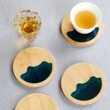 1pc Wooden Round Coaster