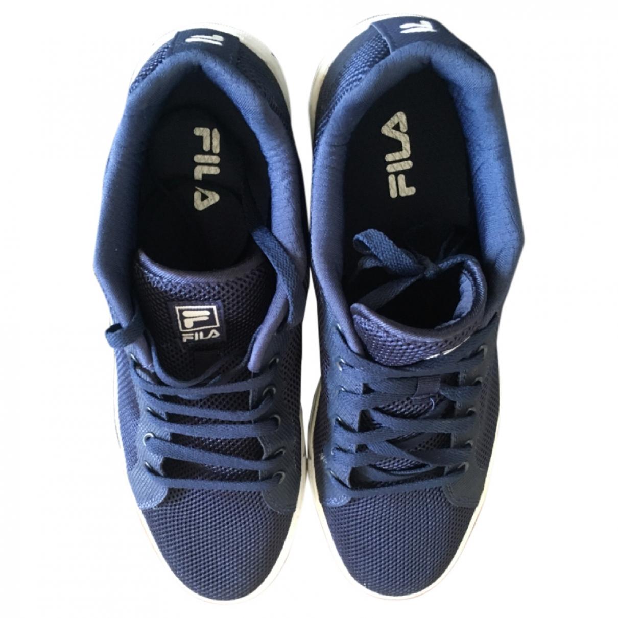 Fila - Baskets   pour homme en cuir - bleu
