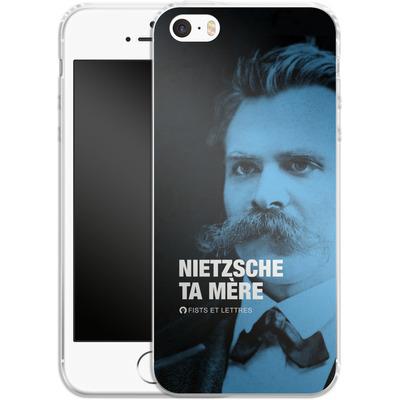 Apple iPhone 5 Silikon Handyhuelle - Nietzsche Ta Mere von Fists Et Lettres