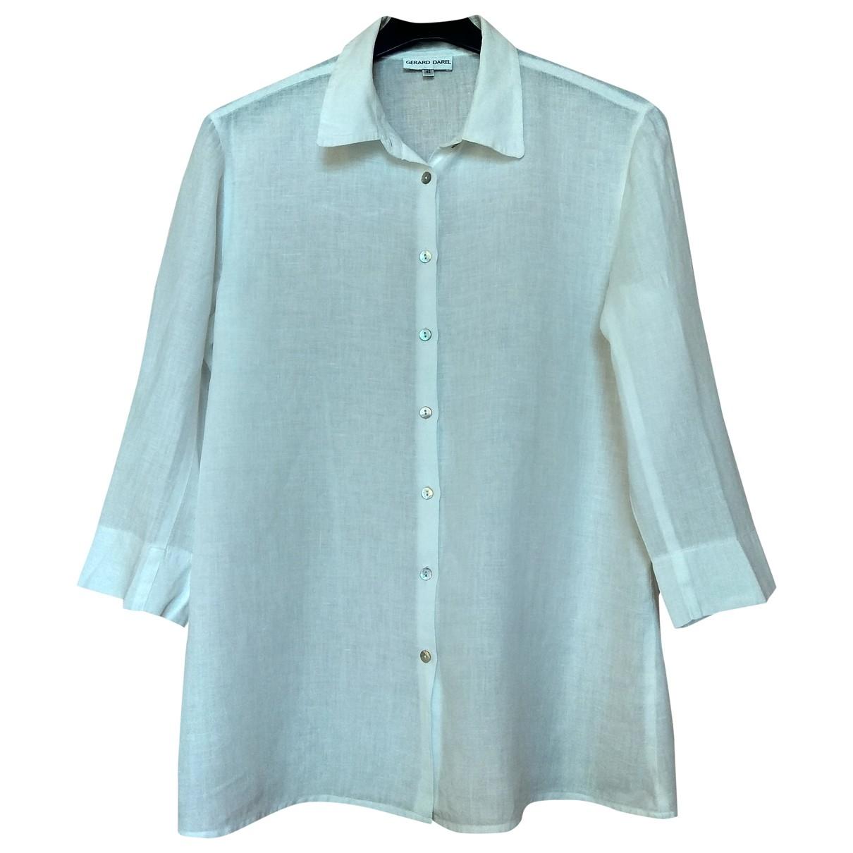 Gerard Darel - Top   pour femme en lin - blanc
