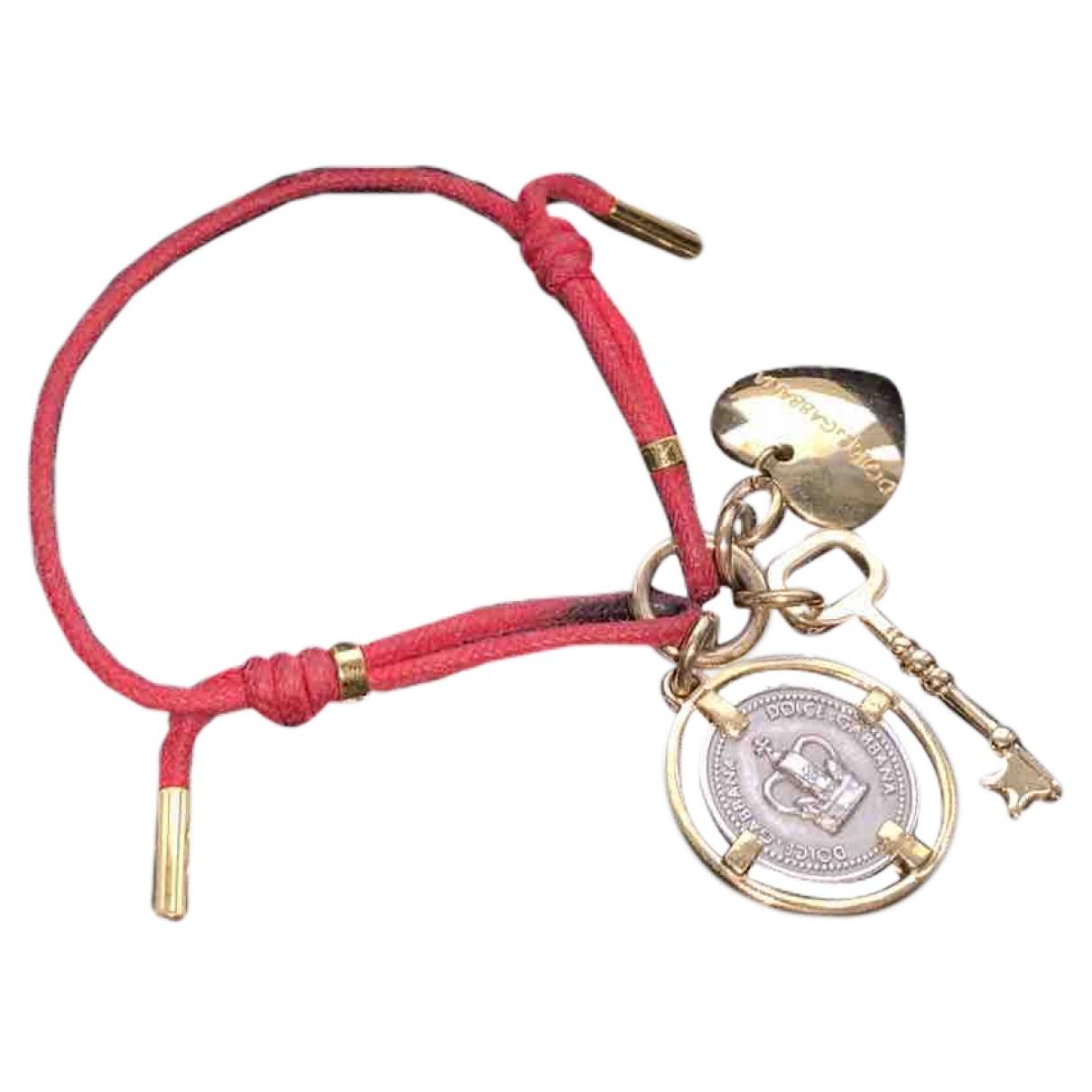 Dolce & Gabbana \N Armband in  Rot Vergoldet