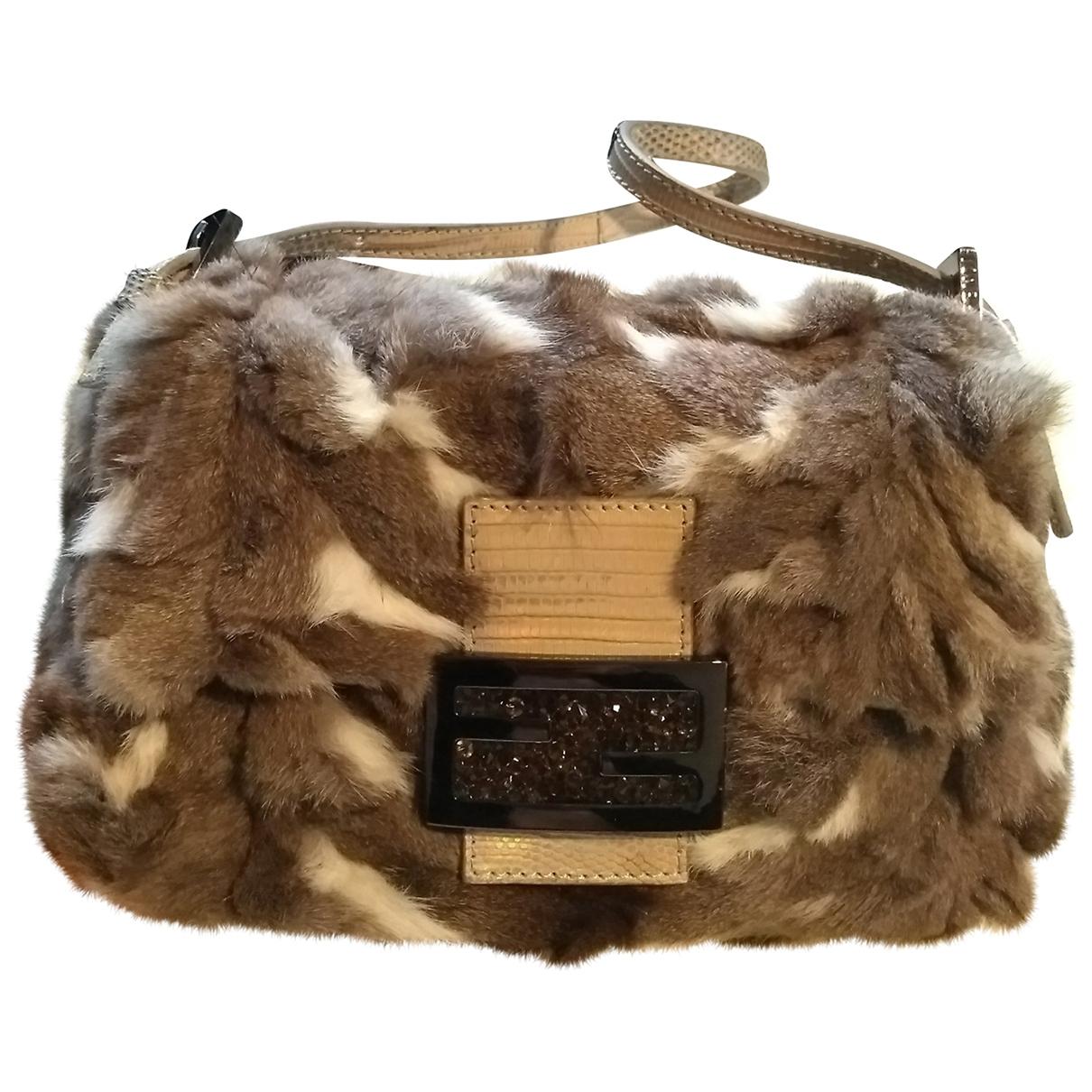Fendi Baguette Multicolour Rabbit handbag for Women \N