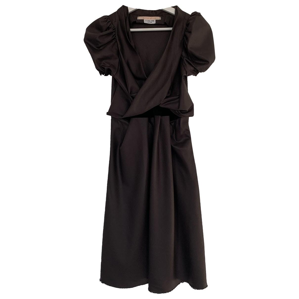 David Szeto \N Kleid in  Braun Wolle