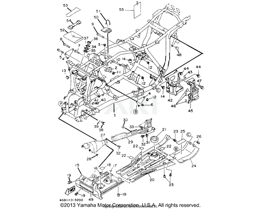 Yamaha OEM 3HN-21471-00-00 PROTECTOR, ENGINE