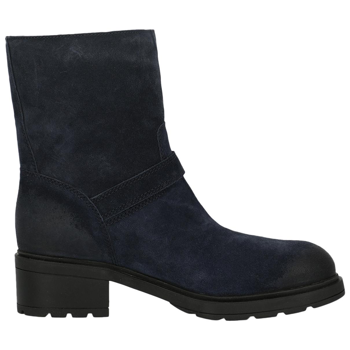 Hogan - Boots   pour femme en cuir - bleu
