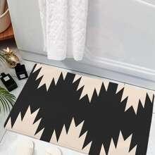 1pc Geometric Print Door Carpet