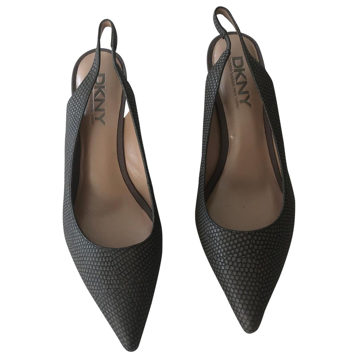 Dkny - Escarpins   pour femme en cuir - gris