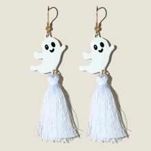 Ohrringe mit Halloween Geist Dekor