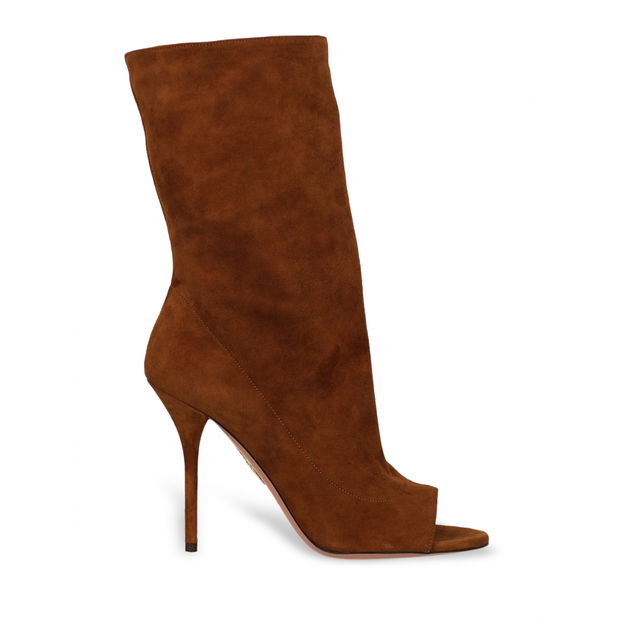 Aquazzura \N Camel Leather Ankle boots for Women 37 IT