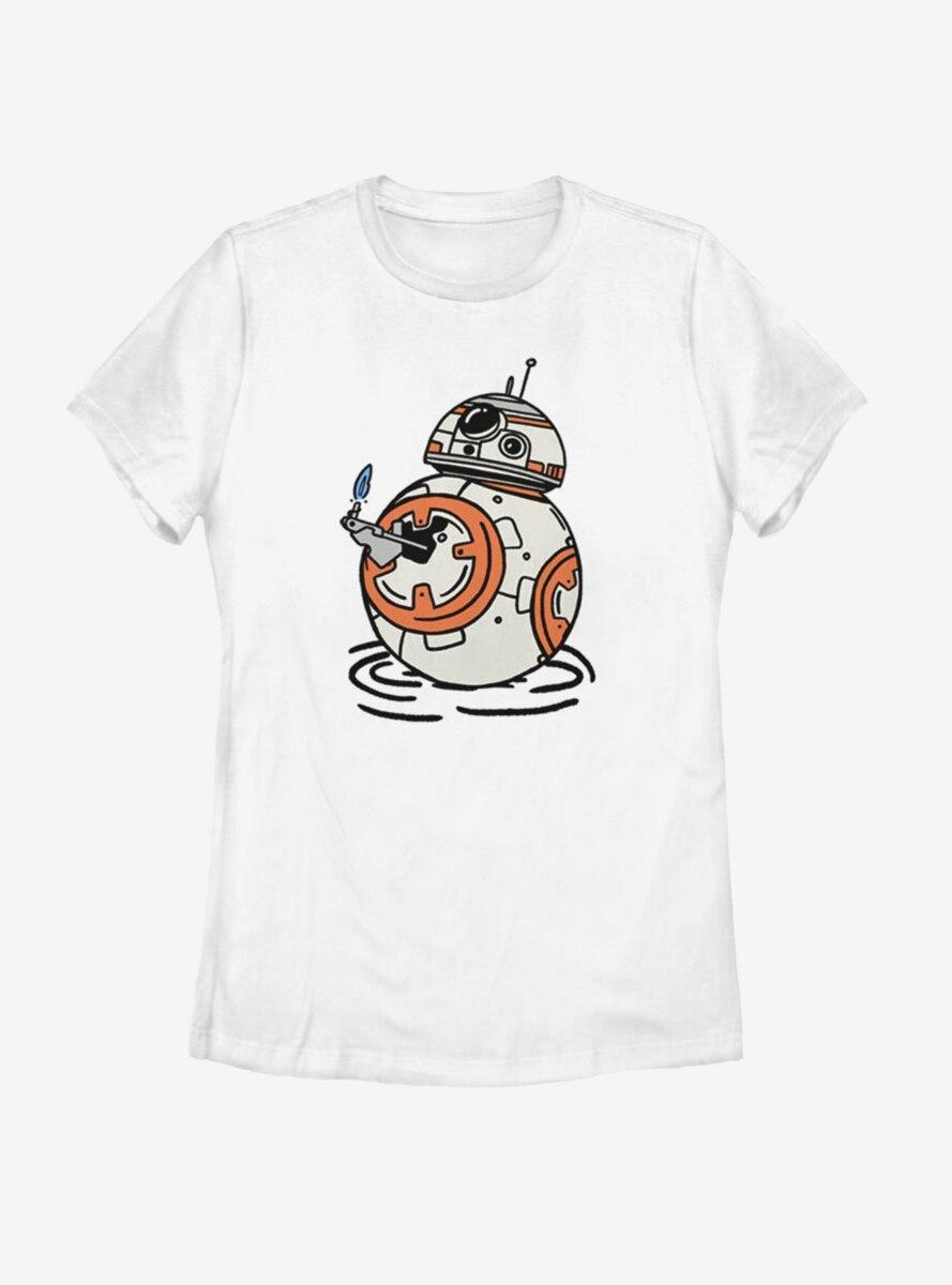 Star Wars Episode IX The Rise Of Skywalker BB Doodles Womens T-Shirt