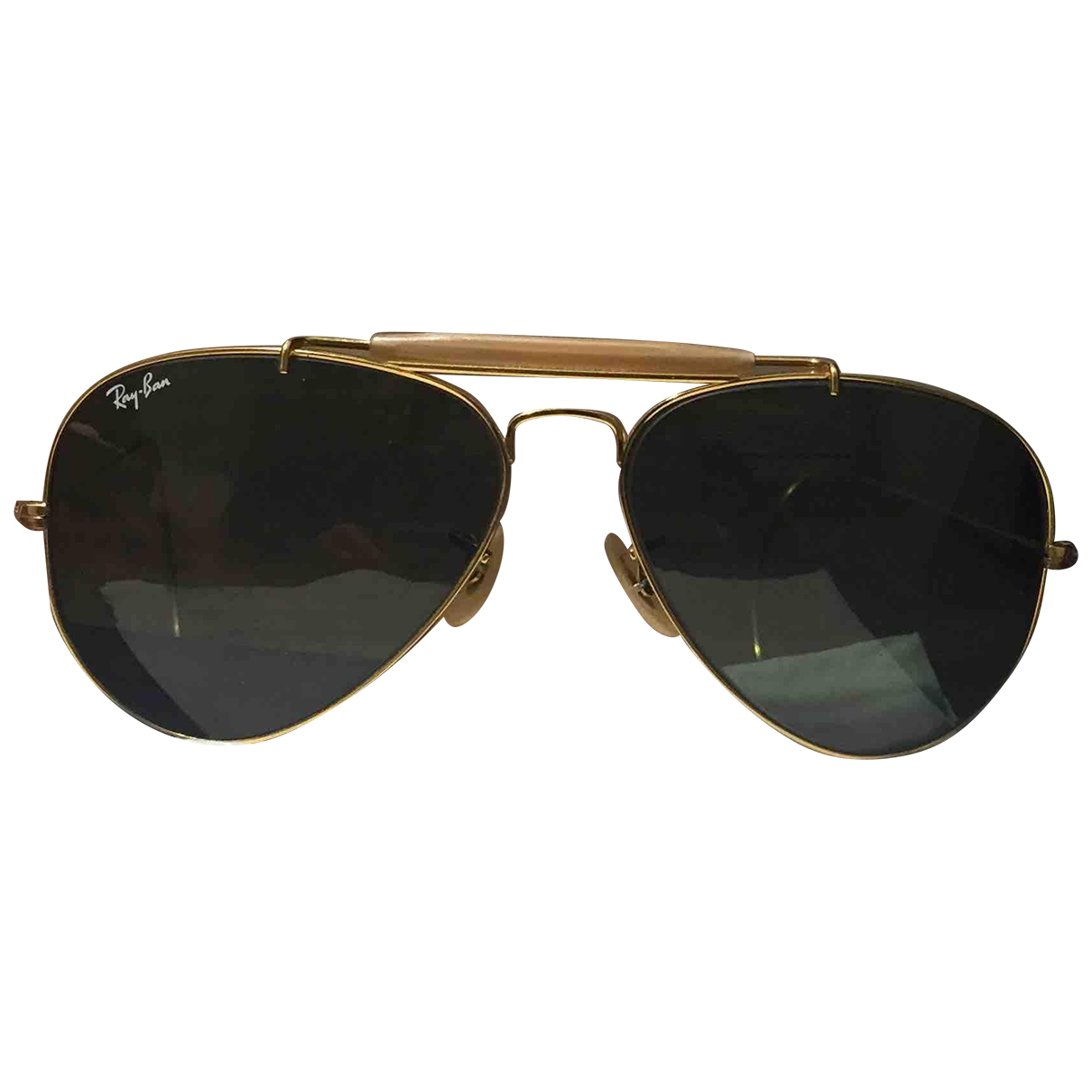 Ray-ban Aviator Green Metal Sunglasses for Women N
