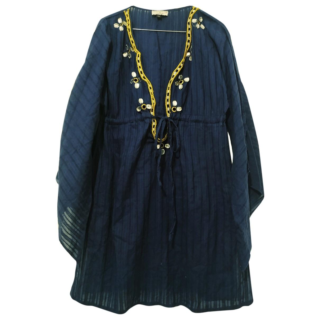 Non Signé / Unsigned \N Blue Cotton dress for Women L International