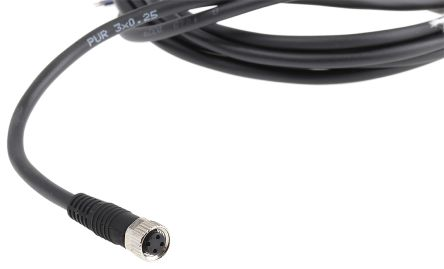 Aventics Cable, M8 3-Pin Socket, 3m